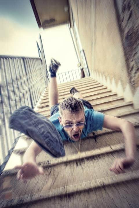 queda em escada